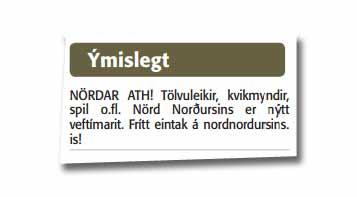 Fréttablaðið - Nörd Norðursins