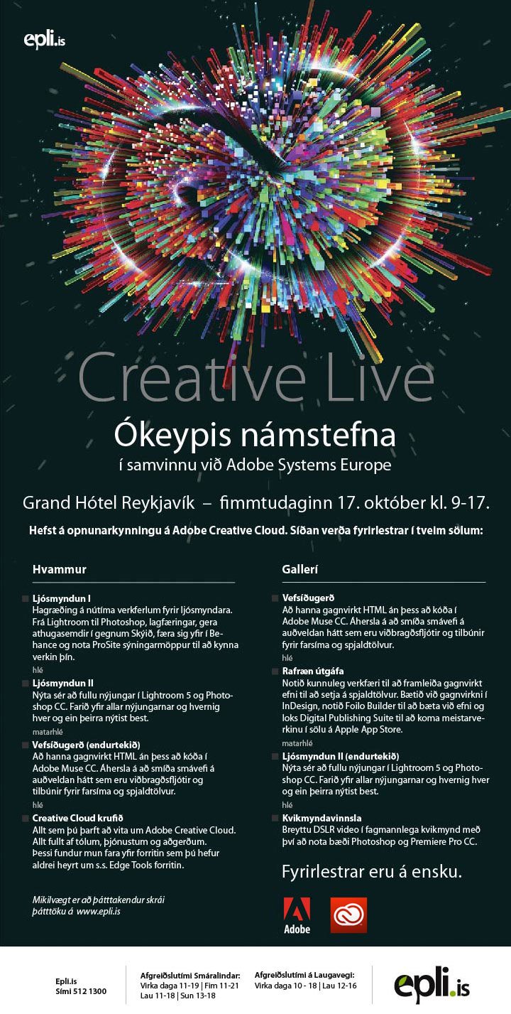 Creative Live Epli