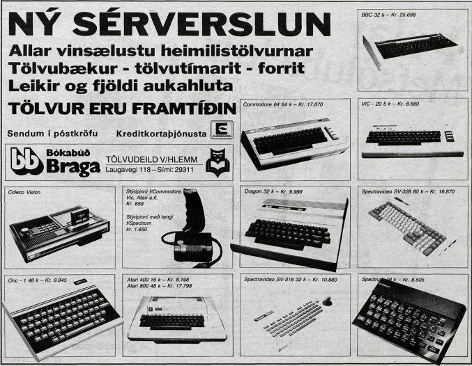 Mynd: Tíminn, Jólagjafahandbók, föstudagur 9. desember 1983, bls. 5.